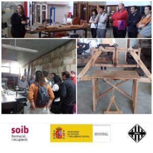 Visita alumnes escola taller fusteria Inca
