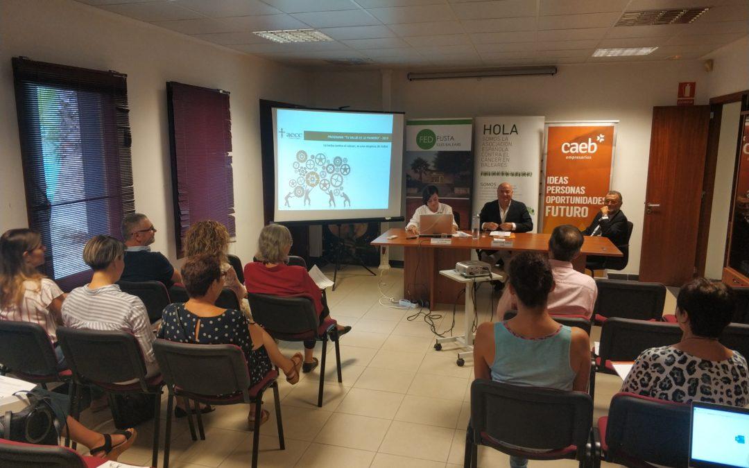 Presentado el programa TU SALUD ES LO PRIMERO por parte de Asociación Española Contra el Cancer de Baleares junto con CAEB
