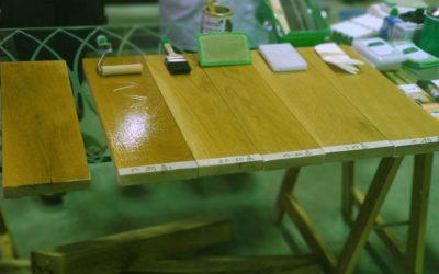 Realizada formación en acabados naturales de madera y aplicación.
